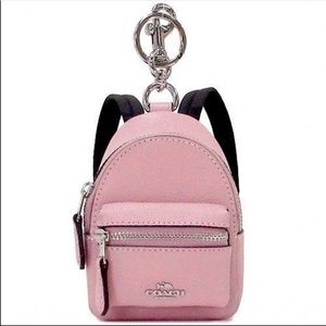 COACH Backpack Bag Charm coin holder Keychain NWT